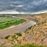 HDR, Little Missouri River, Theodore Roosevelt National Park